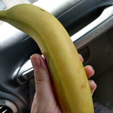 breakfast/lunch on the go: a banana!